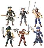 YIJIAOYUN 6 Piezas de acción Figura Piratas de Juguete con Armas / Sea Rover Sea Warriors Figuras Juegos (Cada 3.75 'de Altura)