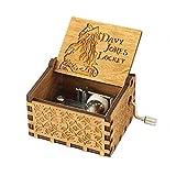 Meiion Antigua caja de música de madera tallada...