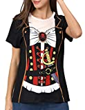 COSAVOROCK Disfraz de Pirata para Mujer Camiseta...
