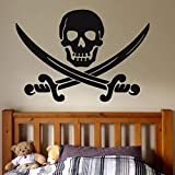 Pirata Calavera Daga Tatuajes de pared Niños...
