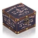 Brynnberg Caja de Madera 10x10x7cm - Cofre del Tesoro Pirata de Estilo Vintage - Hecha a Mano - Diseño Retro - joyero