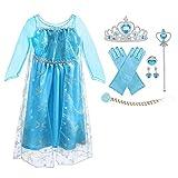 URAQT Vestido de Elsa, Disfraz de Elsa con...