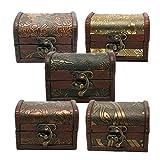 TOYANDONA 5 piezas de madera cofre del tesoro para...