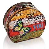 Brynnberg Caja de Madera 30x26x13cm - Cofre del Tesoro Pirata de Estilo Vintage - Hecha a Mano - Diseño Retro - joyero- Pecho Caso