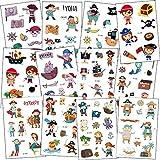 SZSMART Pirata Tatuajes Temporales para Niños, 12...