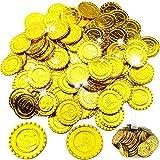 WELLXUNK Monedas Oro,100 Moneda de Fiesta Piratas...