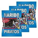 HARIBO Piratos, 3Unidades, lakr titz, lakrtitze Caramelos, nascherei, en Bolsa, Bolsa