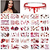 LANMOK Tatuajes Temporales de Halloween 30 piezas...