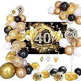 MMTX 40 Decoración de Fiesta de cumpleaños Fondo...