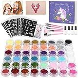 Winpok Tatuajes Purpurina, 48 Colores Kit de...