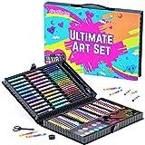 GirlZone Regalos para Niñas -Estuche Colores, Kit Manualidades, 118 Piezas, Pinturas para Niños, Set De Arte Infantil, Art Set, 3 a 12 años