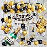 Decoraciones Cumpleaños Oro Negro, Decoraciones...