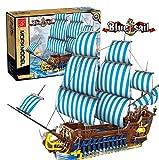 KEAYO Modelo de barco pirata, longitud de 93 cm,...