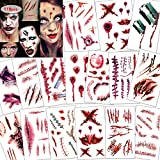 Konsait 118pcs Halloween Tatuajes Temporales,...