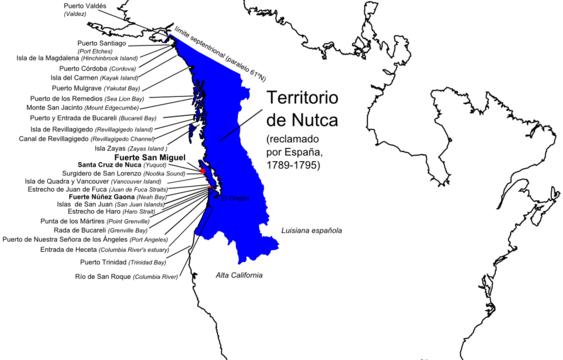Territorio de Nutka Alaska Española 1789-1795