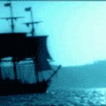 Buque aproximandose a una isla