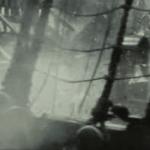Cubierta de un barco pirata acercandose