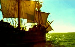 Barco velero navegando