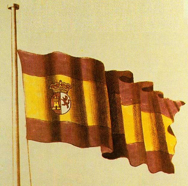 Bandera Española para la marina de guerra desde 1785