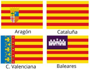 Bandera Autonomicas del Antiguo Reyno de Aragón