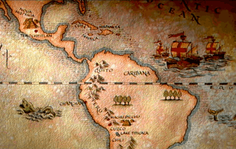 Dibujo del mapa de América puntos principales