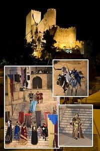 Fotografia Castillo de Almansa en fiestas