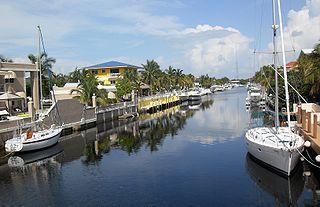 Vista de Key Largo, en Florida