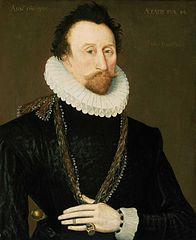 Retrato del corsario inglés Hawkins