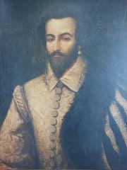 Retrato del corsario inglés Raleigh
