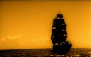 Buque corsario de Holanda, navegando a toda vela