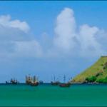 La flota española reunida a punto de partir hacia Europa