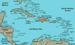 Mapa actual de las Islas del Caribe