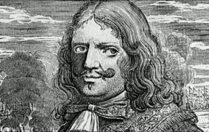 Dibujo del pirata y corsario inglés Morgan