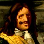Pintura del pirata y corsario inglés Morgan. Gobernador de Jamaica