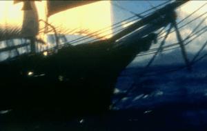 Proa de un buque velero