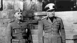 Fotografia de Franco y Mussolini