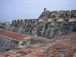 Murallas de la fortaleza de Cartagena de Indias