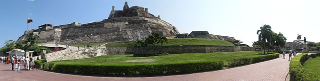 Fortaleza de San Felipe en Cartagena de Indias