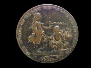 Moneda con Vernon y Blas de Lezo