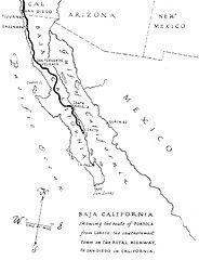 Mapa de las misiones de Junipero Serra