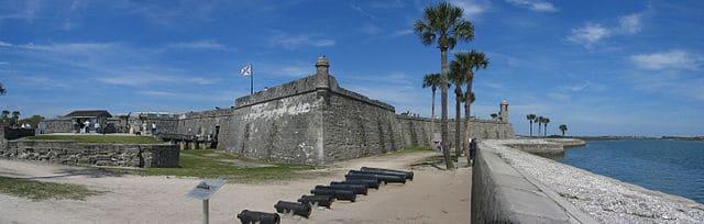 Vista Panorámica del Castillo de San Marcos en Florida