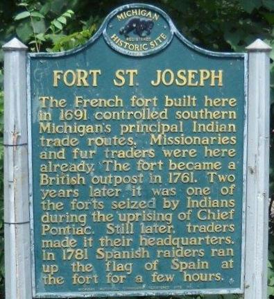 Texto recuerdo del Fuerte Saint Joseph