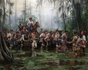 Bernardo de Gálvez recorre el Mississippi