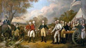 Rendición inglesa en Saratoga