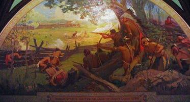 Pintura de la Batalla de San Luis