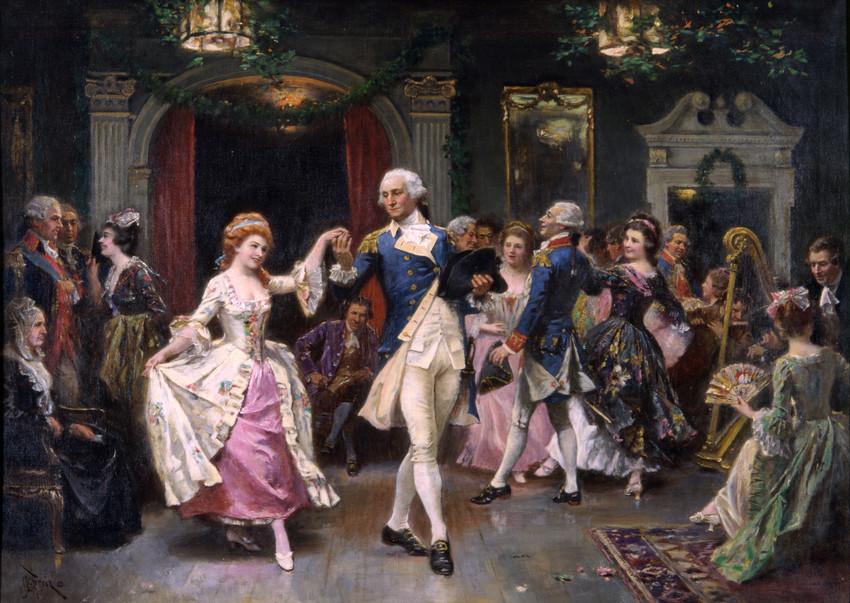 George Washington en la fiesta