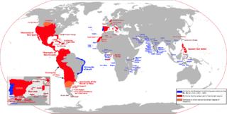 Mapa del Imperio Español en todo el Mundo