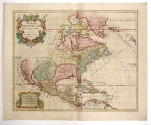 Mapa de Norteamerica, año 1792