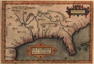 Mapa de Florida de Chiaves, año 1584