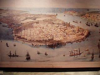 Vista de la Havana en Cuba en 1780